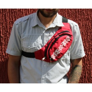 Поясная сумка Красная