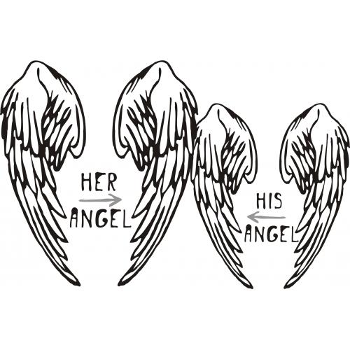 парные майки  Я твой ангел