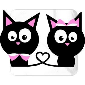 парные майки  Чёрные котята