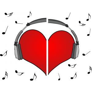 Музыкальные сердца(пара)